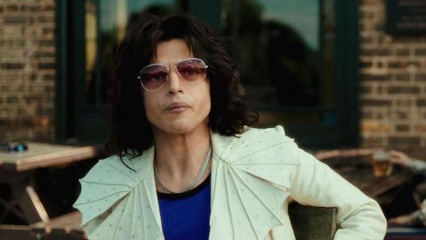 Aksi Rami Malek menjadi Freddie Mercury dalam 'Bohemian Rhapsody' juga diprediksi menang Oscar.