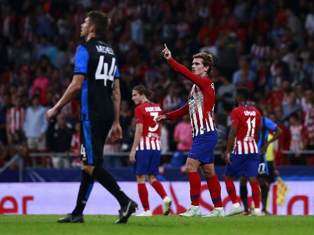Hasil Liga Champions: Griezmann 2 Gol, Atletico Bungkam Club Brugge
