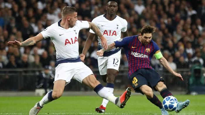 Barcelona kandaskan Tottenham 4-2. (Foto: Julian Finney/Getty Images)