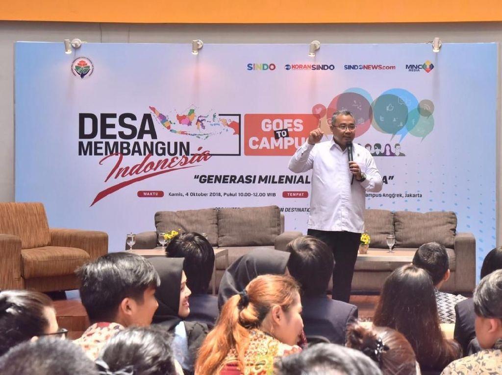 Mendes Minta Mahasiswa Bantu Bangun Desa dengan Ide Kreatif