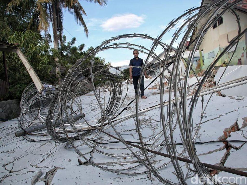 Penampakan Lapas Palu yang Rusak Akibat Gempa