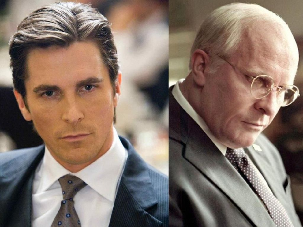 Total! Christian Bale Tak Dikenali di Peran Biopik Vice