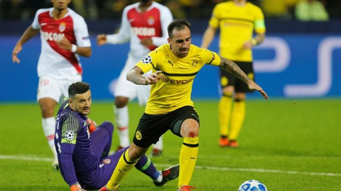 Borussia Dortmund menang telak 3-0 atas AS Monaco. (Foto: Leon Kuegeler/REUTERS)