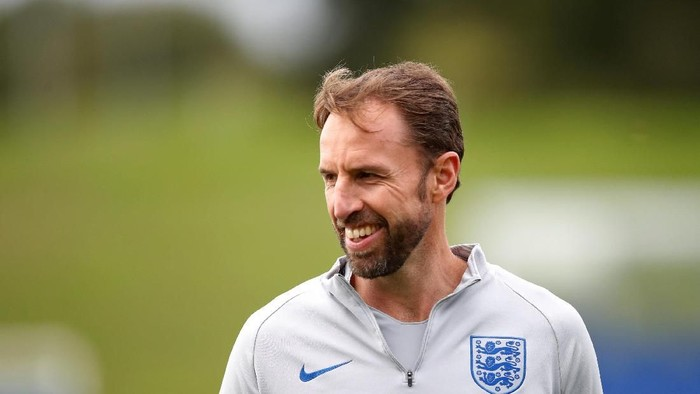 Soccer Football - England Training - St. Georges Park, Burton upon Trent, Britain - September 9, 2018   England manager Gareth Southgate during training   Action Images via Reuters/Carl Recine