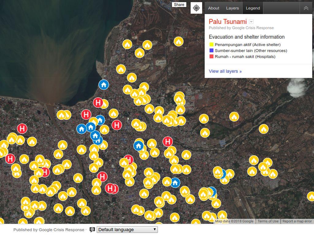 Pantau Kota Palu Terkini dan Posko Pengungsian Lewat Google Maps