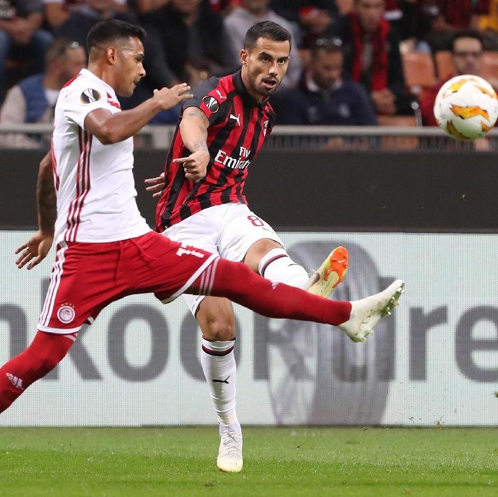 Hasil Liga Europa: Balikkan Keadaan, Milan Atasi Olympiakos 3-1