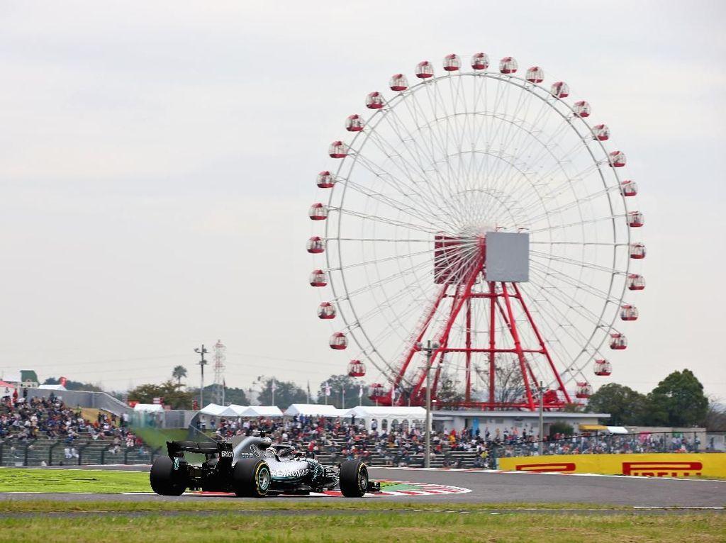 Hamilton Tercepat Lagi di Latihan Bebas Kedua GP Jepang