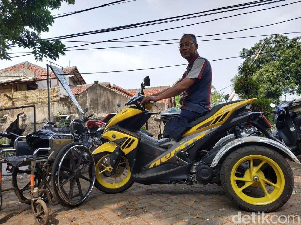 Berkat Bengkel Modifikasi Ini, Sepeda Motor Jadi Ramah Difabel