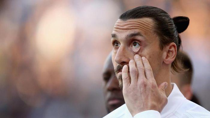 Zlatan Ibrahimovic menyindir pernyataan Cristiano Ronaldo yang menyebut pindah ke Juventus sebagai tantangan (Foto: Sean M. Haffey/Getty Images)