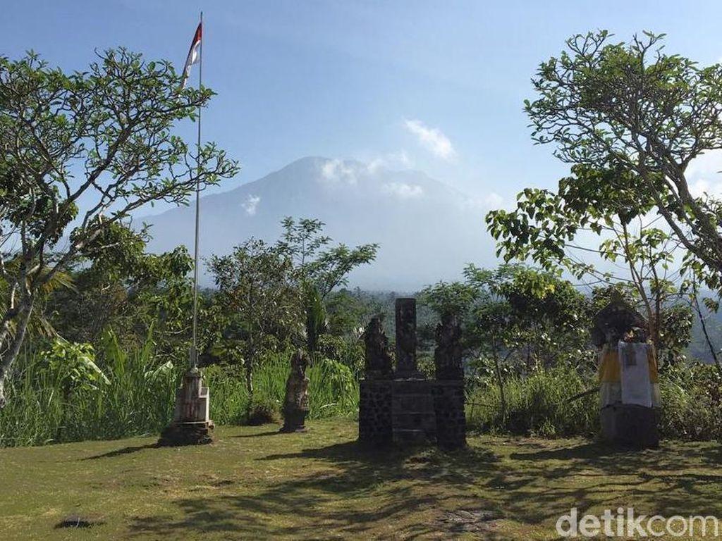Pasca-erupsi, Siang Ini Gunung Agung Mulai Tenang