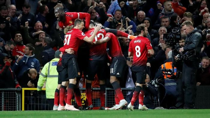 Sempat tertinggal dua gol, Manchester United berbalik mengalahkan Newcastle United 3-2. (Foto: Carl Recine/Action Images via Reuters)