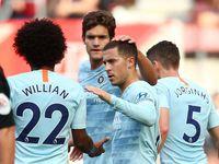 Babak 1 Southampton vs Chelsea: Hazard Bawa Tim Tamu Unggul