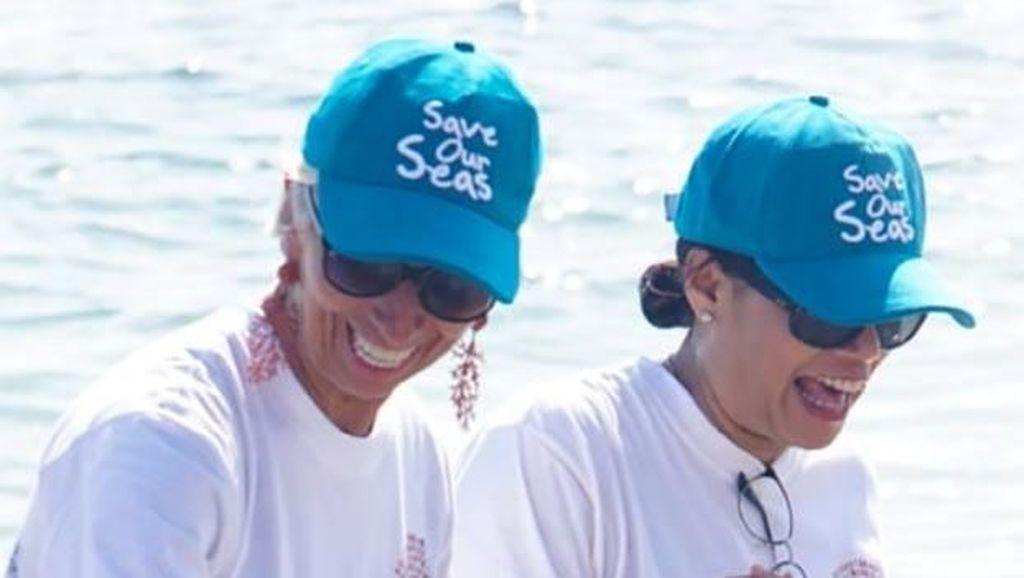 Kemesraan Sri Mulyani-Lagarde Tanam Terumbu Karang di Bali