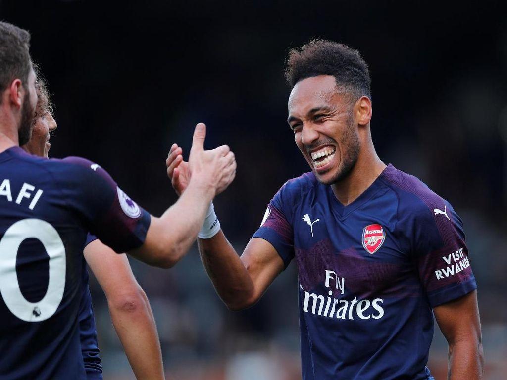 Aubameyang Puas Jadi Pembeda untuk Kemenangan Besar Arsenal