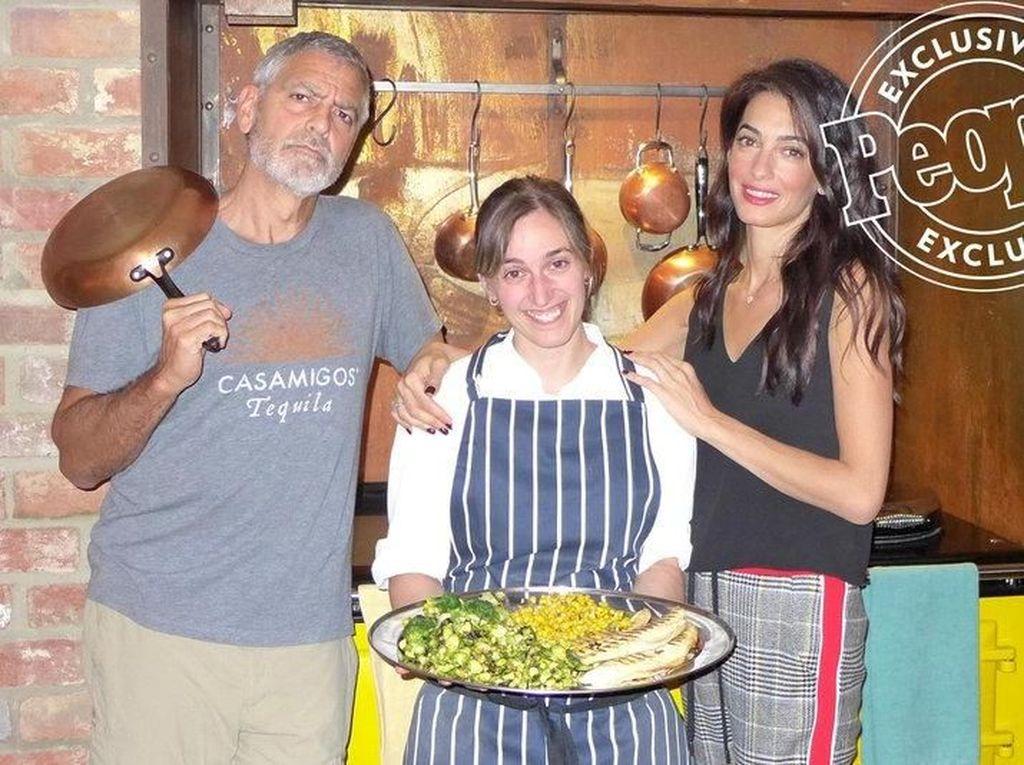 Doyan Makan, George dan Amal Clooney Puas dengan Masakan Chef Pribadinya
