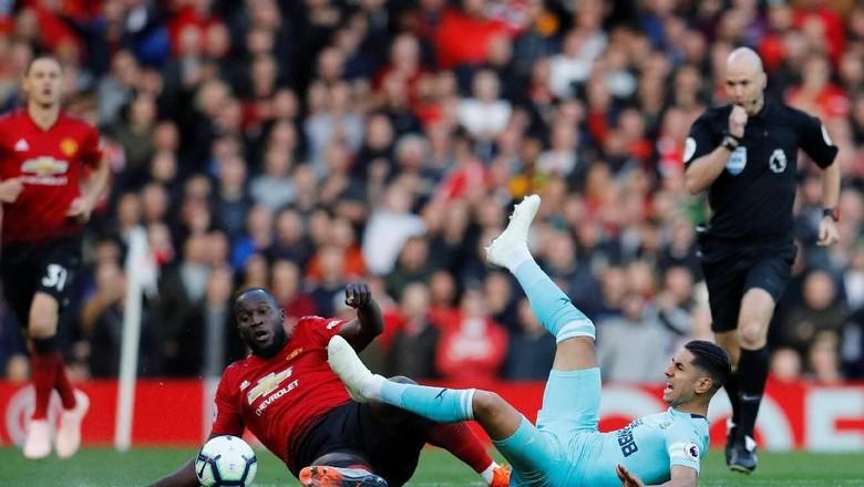 Romelu Lukaku Saat Manchester United Hadapi Newcastle United