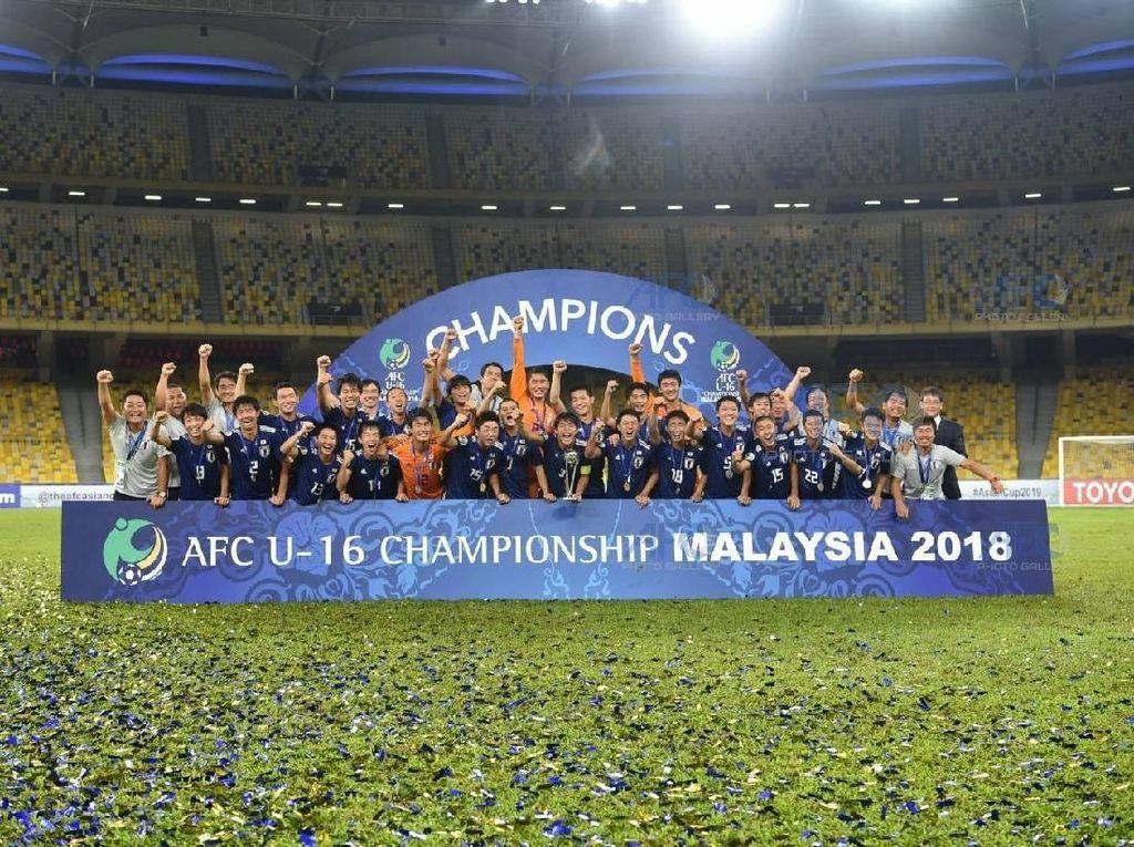 Jepang Juara Piala Asia U-16 2018