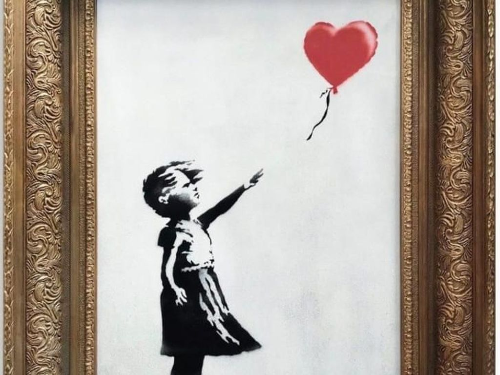 Lukisan Love is in the Bin Banksy Diprediksi Naik Harga Capai Rp 35 M