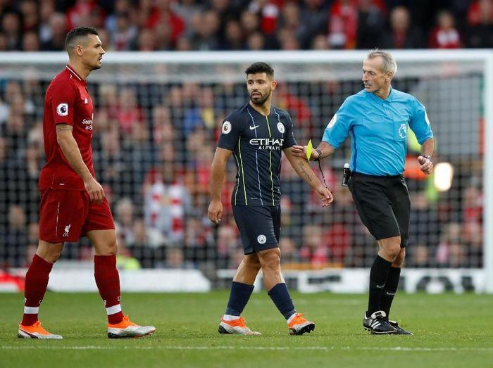 Pemain Manchester City, Sergio Aguero. (Foto: Carl Recine/Reuters)