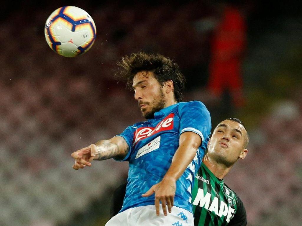 Hasil Napoli vs Sassuolo: Tuan Rumah Menang 2-0