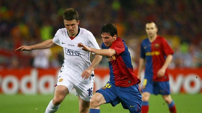 Manchester United bertemu dengan Barcelona di perempatfinal Liga Champions. (Foto: Alex Livesey/Getty Images)