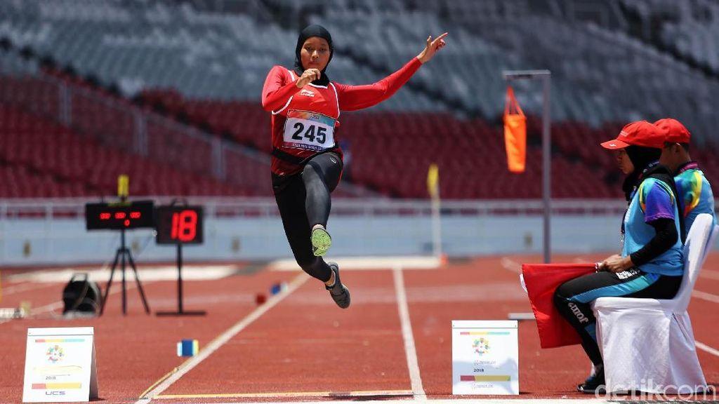 Aksi Lompat Jauh Evi Karisma Hasilkan Perunggu