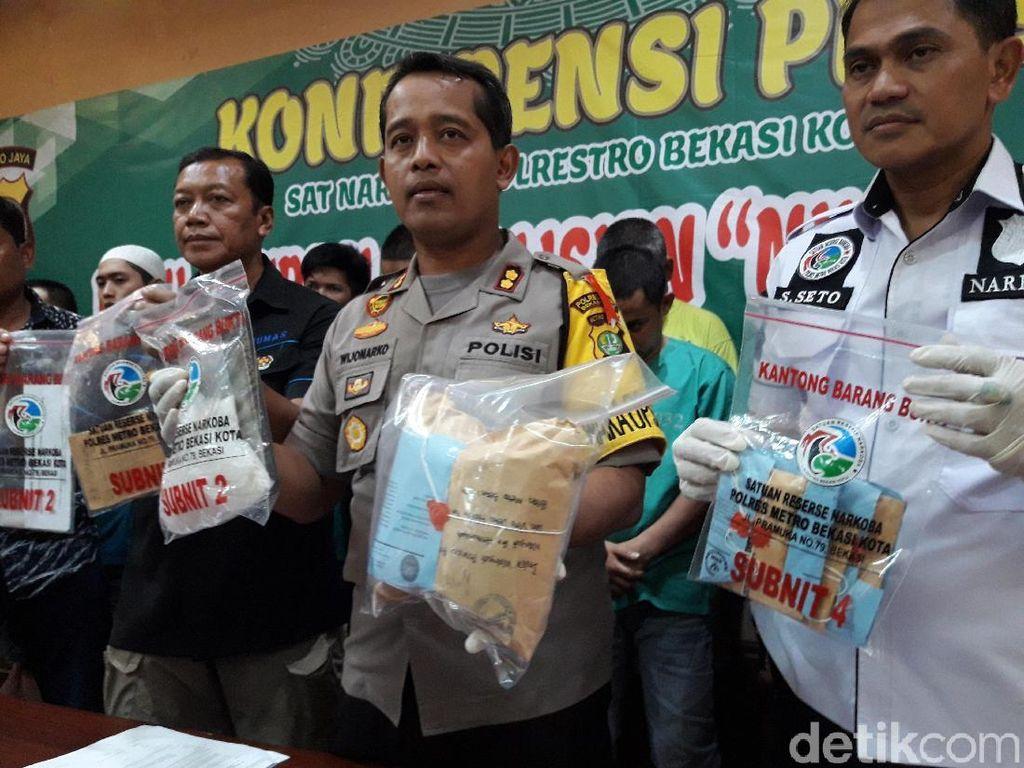 Polisi Tangkap 37 Pengedar Narkoba di Bekasi