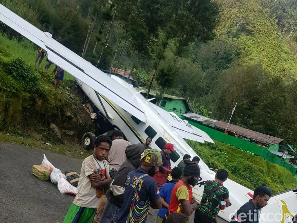Pesawat Tergelincir di Papua, Tak Ada Korban Jiwa