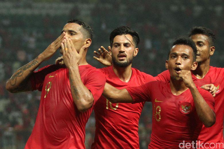 Timnas senior Indonesia menjamu Myanmar di Stadion Wibawa Mukti, Cikarang, Rabu (10/10/2018) malam WIB dalam laga uji coba.