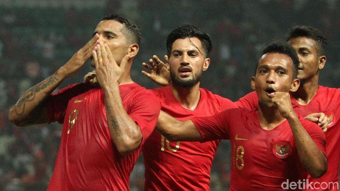 Alberto Goncalves menjadi sumber gol utama Timnas Indonesia di bawah asuhan Simon McMenemy. (Foto: Rifkianto Nugroho/Detikcom)