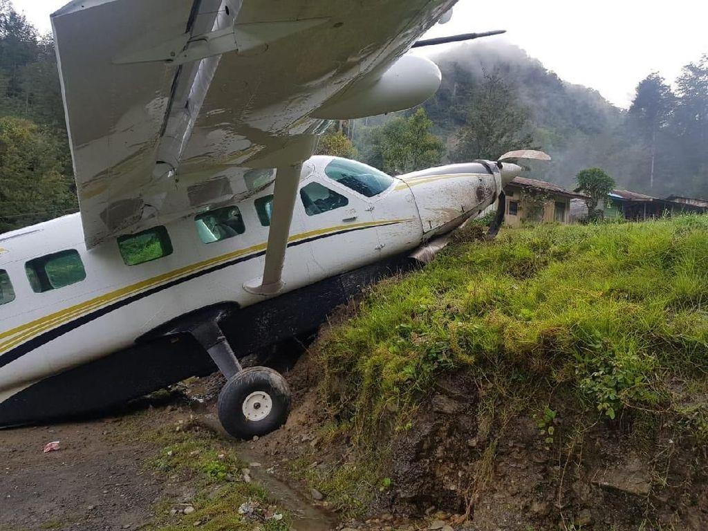 Pesawat Caravan Tergelincir di Beoga Papua