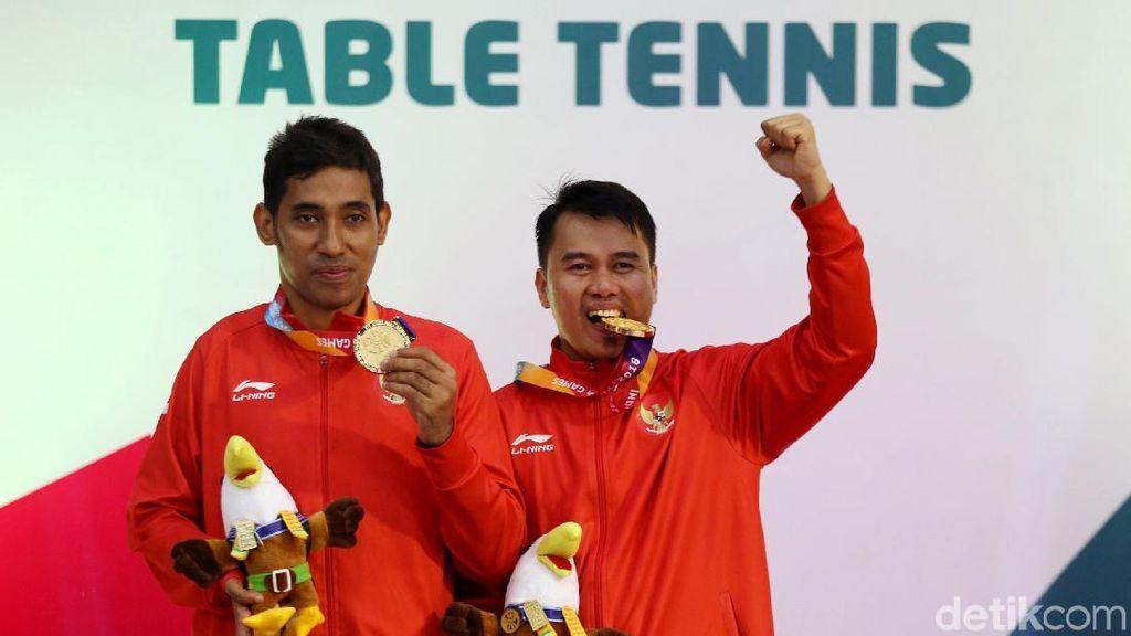 Jacob-Akbar Sumbang Emas untuk Indonesia dari Cabor Tenis Meja