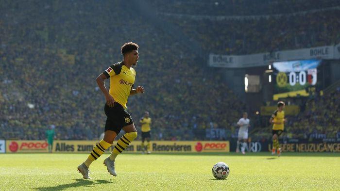 Pemain Inggris, Jadon Sanch, saat membela Borussia Dortmund. (Foto: Leon Kuegeler/Reuters)