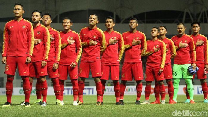 Timnas Indonesia dalam laga internasional. (Foto: Rifkianto Nugroho/Detikcom)