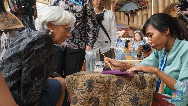 Managing Director of International Monetary Fund Christine Lagarde during IMF-World Bank Annual Meetings in Nusa Dua, Bali. Image: CNBC Indonesia/Ester Christine Natalia