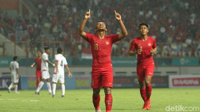 Timnas Indonesia menang telak 3-0 atas Myanmar di laga uji coba. (Foto: Rifkianto Nugroho/detikSport)
