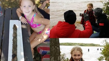 Wow! Anak 8 Tahun Temukan Pedang Kuno di Danau