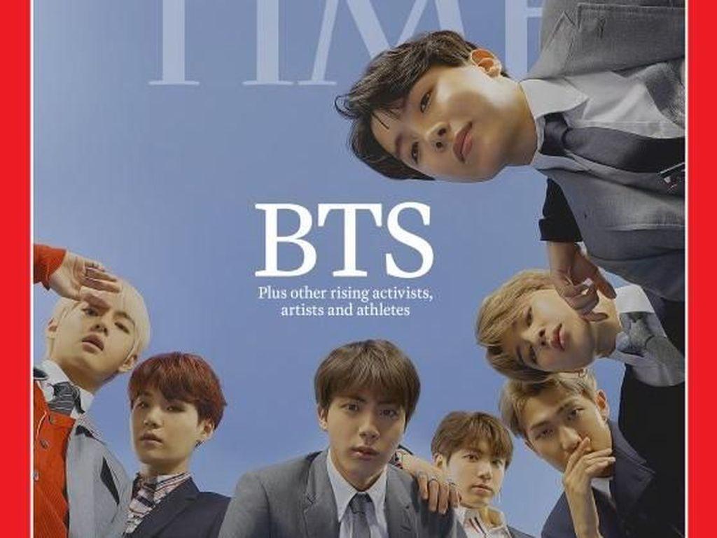 Makin Mendunia! BTS Tampil di Cover Majalah TIME
