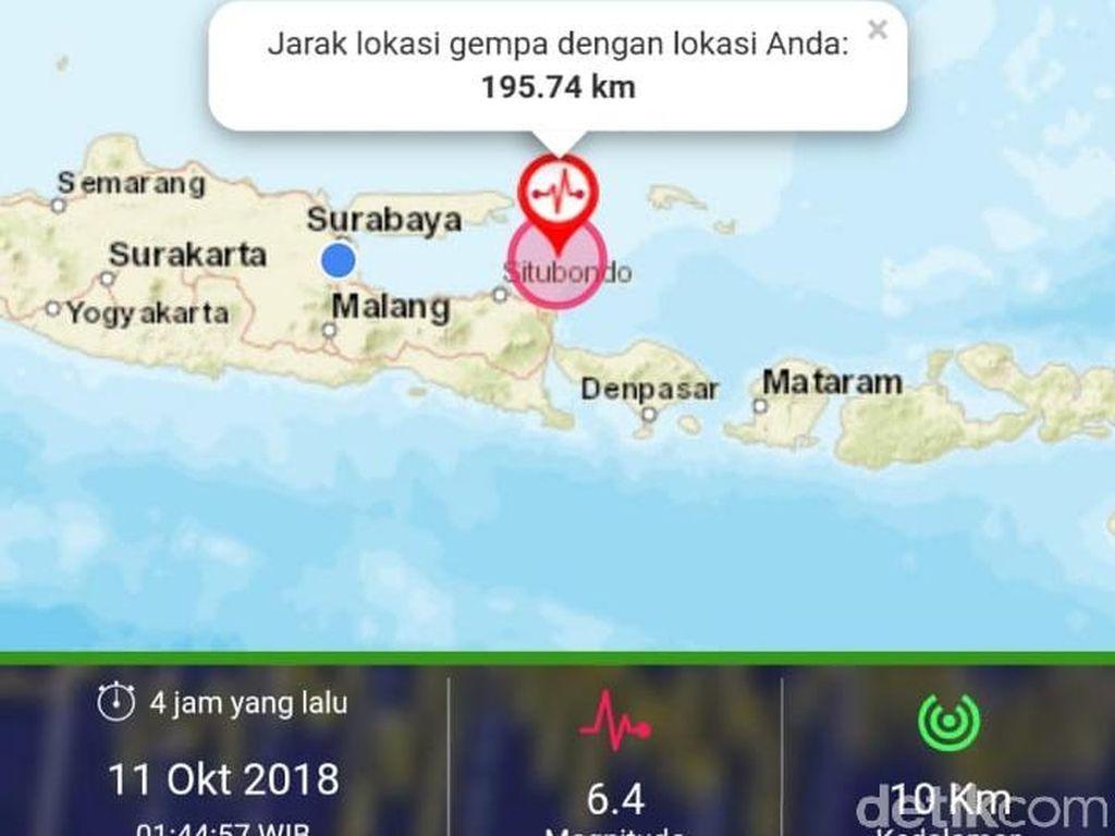 Gempa M 6,4 Situbondo Dirasakan Warga Gresik dan Sidoarjo