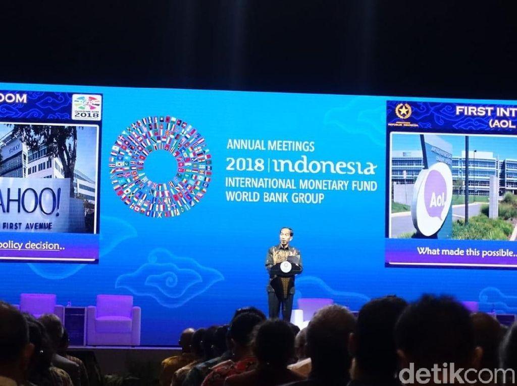 Jokowi Bicara Manfaat Fintech ke Ekonomi RI di IMF-WB
