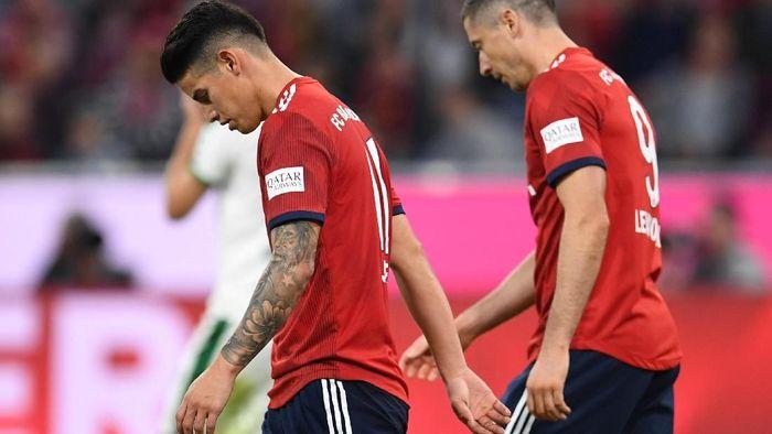 James Rodriguez dan Robert Lewandowski dianggap jadi biang keladi di Bayern Munich (Andreas Gebert/REUTERS)