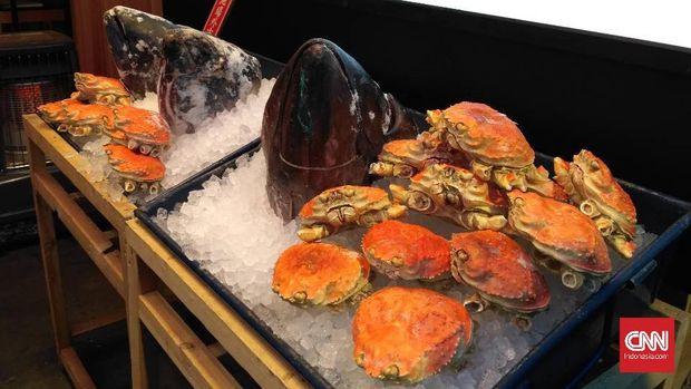 seafood segar di pasar Tsukiji