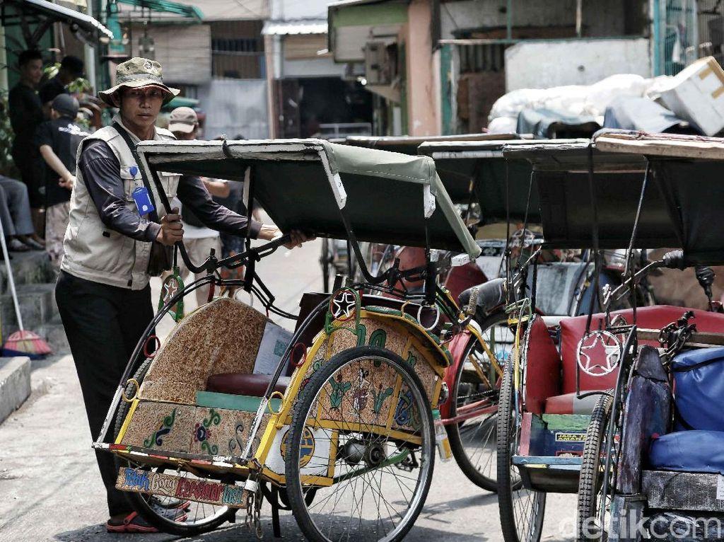 DPRD DKI Tak Masukkan Revisi Perda Becak di Pembahasan 2019