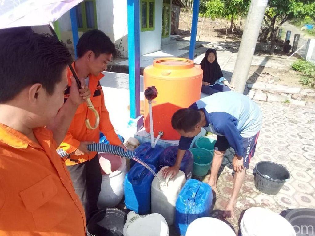 Salurkan Air Bersih untuk Warga, BPBD Ciamis Berutang Puluhan Juta