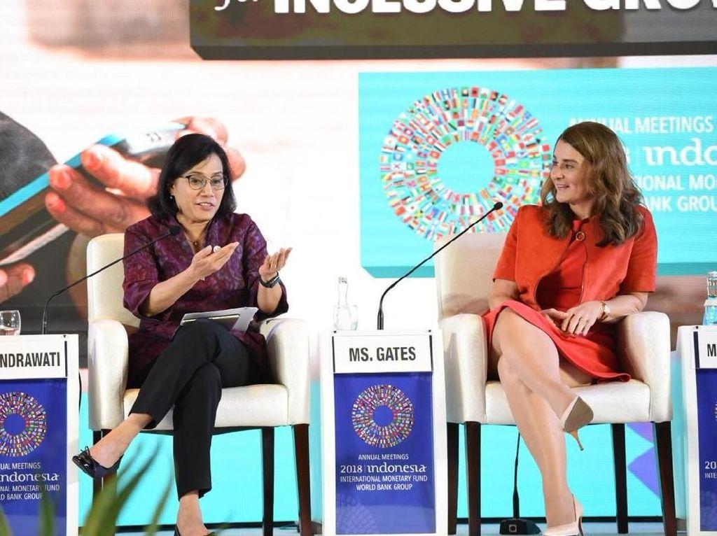 Sri Mulyani dan Melinda Gates Duduk Bareng Bahas Teknologi