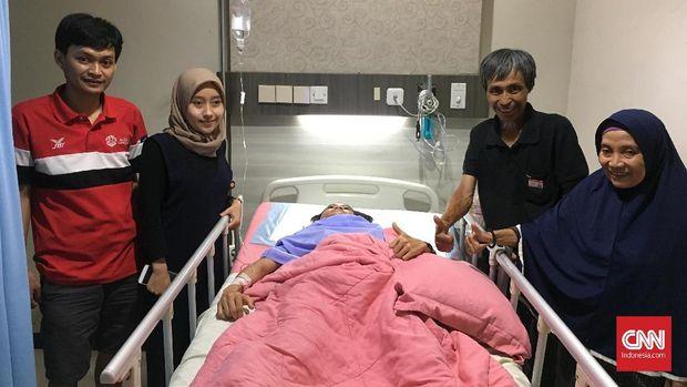 Insan Nurhaida menjalani perawatan di Rumah Sakit Mintohardjo.