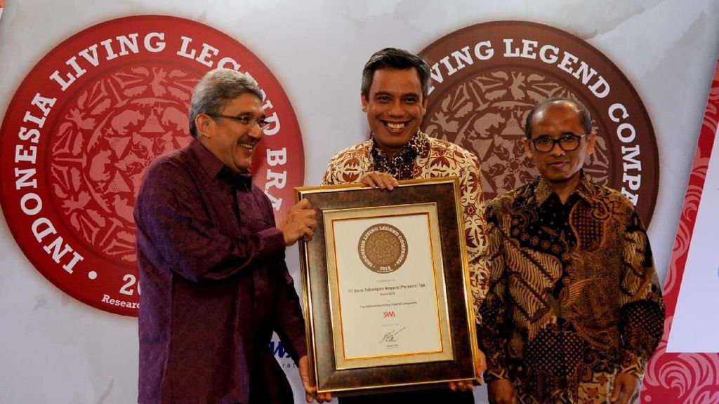 BTN Raih Indonesian Living Legend Companies 2018