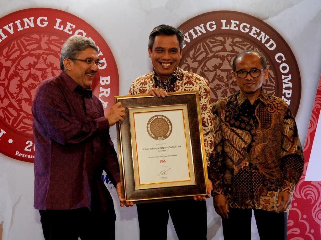BTN Raih Indonesian Living Legend Companies 2018
