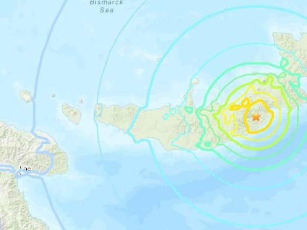 Gempa Magnitudo 7 Guncang Pulau Terpencil Papua Nugini