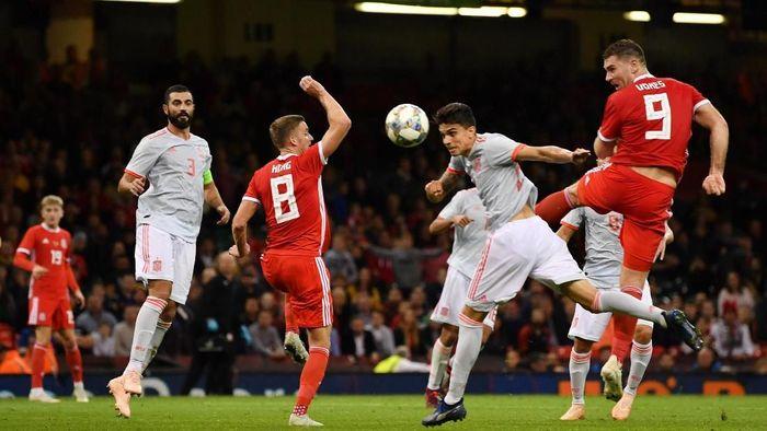 Spanyol menang telak atas Wales 4-1 di laga uji coba. (Foto: Dan Mullan/Getty Images)
